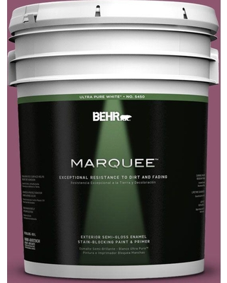 BEHR MARQUEE 5 gal. #PPU1-17 Majestic Orchid Semi-Gloss Enamel Exterior Paint and Primer in One