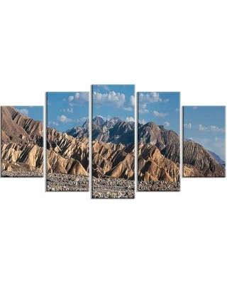 Design Art 'Beautiful Hills in Death Valley' Photographic Print Multi-Piece Image on Canvas EAOU3751
