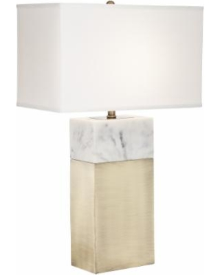 Big Deal On Imperial Antique Brass Faux Marble Table Lamp