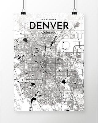 Amazing Deal on Williston Forge 'Denver City Map' Graphic Art