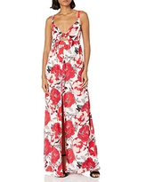 cupcakes and cashmere Women's Thorpe Floral Printed Maxi Dress, Punch Pink, 8