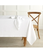 """Italian Washed Linen Tablecloth, 70 X 108"""", White"""