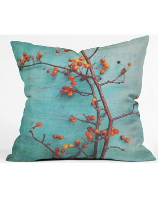 """East Urban Home She Hung Her Dreams on Branches Throw Pillow ESRB3599 Size: 16"""" H x 16"""" W x 4"""" D"""
