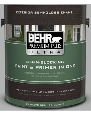 BEHR ULTRA 1 gal. #780F-4 Sparrow Semi-Gloss Enamel Exterior Paint and Primer in One