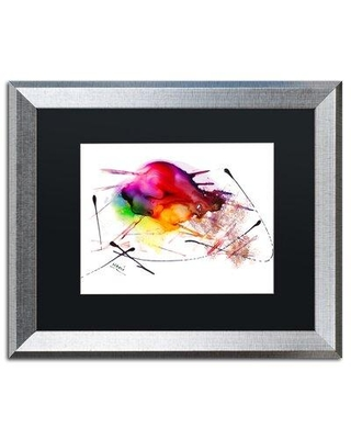 """Trademark Fine Art 'Abstract 02' Framed Painting Print MA0839-S1114BMF / MA0839-S1620BMF Size: 16"""" H x 20"""" W x 0.5"""" D"""