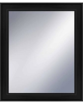 "Darby Home Co Rectangle Glass Wall Mirror DABY9074 Size: 25.75"" H x 21.75"" W, Finish: Espresso"
