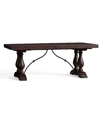 """Lorraine Extending Dining Table, Rustic Brown, 78"""" - 100"""" L"""