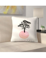 """East Urban Home Pink Tree Throw Pillow ETHF2875 Size: 20"""" x 20"""""""