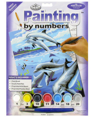 Dolphins Painting by Numbers