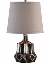 "Uttermost Felice Charcoal Metallic 18"" High Table Lamp"