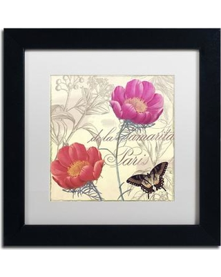 """Trademark Art 'Petals of Paris I' by Color Bakery Framed Graphic Art ALI4184-B1 Size: 11"""" H x 11"""" W x 0.5"""" D Mat Color: White"""