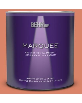 BEHR MARQUEE 1 qt. #M180-5 King Salmon Eggshell Enamel Interior Paint and Primer in One