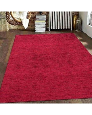 Ebern Designs Onley Hand-Knotted Wool Red Area Rug W001042836 Rug Size: Rectangle 3' x 5'