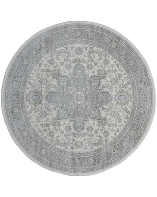 United Weavers Clairmont Zadar Grey 7 ft. 10 in. x 7 ft. 10 in. Round Rug