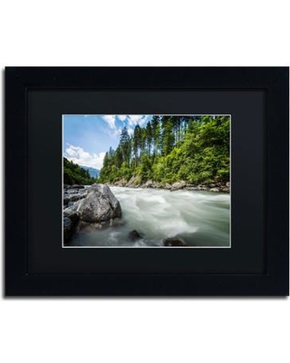 """Trademark Art 'Endless...' by Philippe Sainte-Laudy Framed Photographic Print PSL0302-B1 Size: 11"""" H x 14"""" W Matte Color: Black"""
