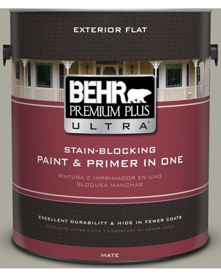 BEHR ULTRA 1 gal. #ECC-48-1 Winter Rye Flat Exterior Paint and Primer in One