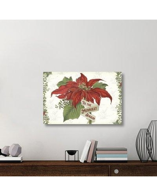 """East Urban Home 'Yuletide I' Graphic Art Print on Canvas UBAH6584 Size: 24"""" H x 36"""" W x 1.5""""D"""