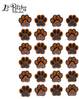 Black & Brown Paw Print 3D Stickers