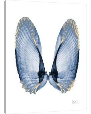 """Ebern Designs 'Golden Crusted Angel Wings' Graphic Art Print on Wrapped Canvas EBDG1399 Size: 40"""" H x 30"""" W"""