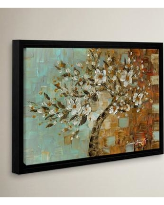"Latitude Run White Tree 01 Framed Painting Print LTRN7615 Size: 24"" H x 36"" W x 2"" D"