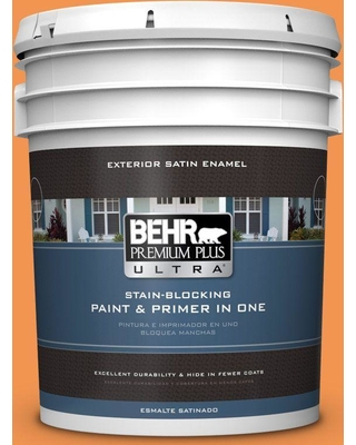 BEHR ULTRA 5 gal. #P230-6 Toucan Satin Enamel Exterior Paint and Primer in One