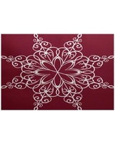 The Holiday Aisle Red Indoor/Outdoor Area Rug HLDY1451 Rug Size: Rectangle 2' x 3'