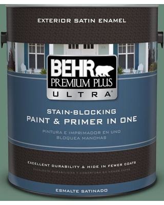 BEHR Premium Plus Ultra 1 gal. #S420-5 Sycamore Grove Satin Enamel Exterior Paint and Primer in One