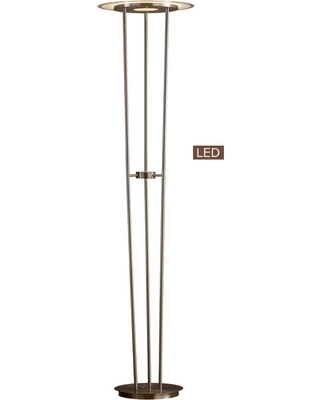 ARTIVA 72 in. Satin Nickel Luciano LED Torchiere Floor lamp Touch Dimmer