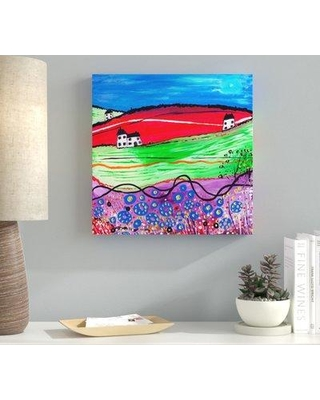 """Ebern Designs 'The Village' Acrylic Painting Print on Wrapped Canvas EBRN2193 Size: 14"""" H x 14"""" W x 2"""" D"""