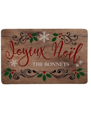 Personalized Languages of Christmas Doormat - French