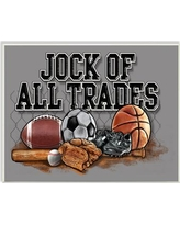 """Zoomie Kids 'Jock Of All Trades Sports Balls' Graphic Art Print on Wrapped Canvas aNJF8720 Size: 13"""" H x 19"""" W Format: Wall Plaque"""