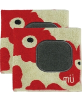 Microfiber Dishcloth With Scrubber (Set Of 2) - Mu Kitchen, Red Rose