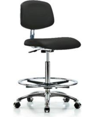 Symple Stuff Iyana Drafting Chair BI162080 Upholstery Color: Black Casters/Glides: Casters