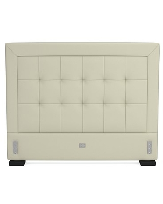 Irving 53 Tufted Headboard Only, Queen, Faux Suede, Stone