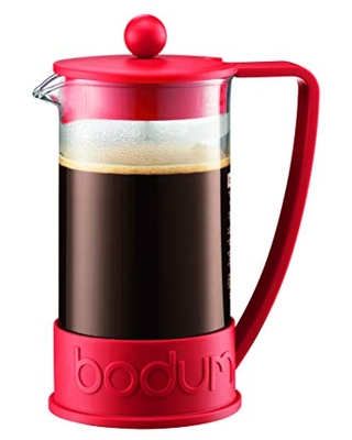 Bodum 1-Liter 8-Cup Coffee Make Brazil French Press, 34 Ounce, Red