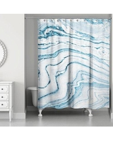 Everly Quinn Bellicent Asenath Marble Shower Curtain EYQN4090