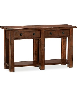 Benchwright Console Table, Rustic Mahogany