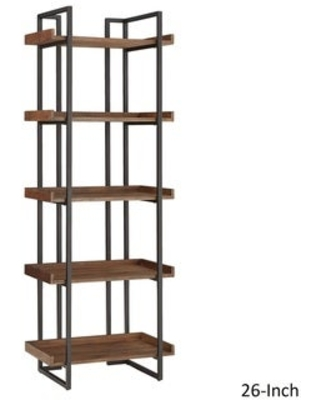 Spectacular Deals on Corey Rustic Brown Etagere Bookcases by