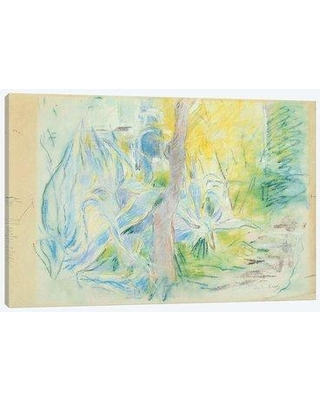 """East Urban Home 'Aloes At Villa Ratti (Pastel On Paper) 1889' Graphic Art Print on Wrapped Canvas EBHS0313 Size: 12"""" H x 18"""" W x 0.75"""" D"""