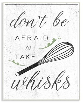 The Stupell Home Decor Collection Kitchen Take Whisks! Oversized Wall Plaque Art