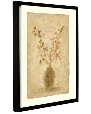 "'Ikebana Pink' by Cheri Blum Framed Painting Print on Wrapped Canvas ArtWall Size: 32"" H x 24"" W"