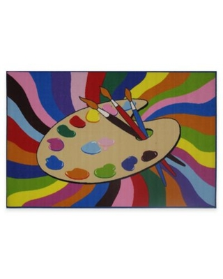 Fun Rugs™ Painting Time 3-Foot 3-Inch x 4-Foot 10-Inch Rug
