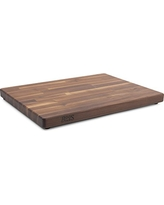 John Boos Blended Walnut Wood Edge Grain Cutting Board with Feet, 23.75 Inches x 17 Inches x 1.5 Inches