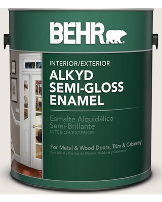 Can T Miss Bargains On Behr 1 Gal N330 1 Milk Paint Urethane Alkyd Semi Gloss Enamel Interior Exterior Paint