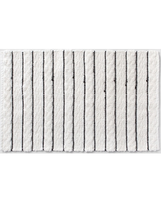 Here S A Great Price On Striped Bath Rug White Black