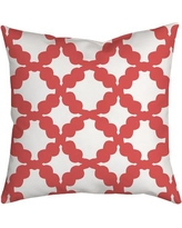 "SafiyaJamila Simply Geometric Throw Pillow SimplyGeo_Blue Size: 20"" H x 20"" W x 2"" D, Color: Pink"
