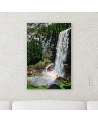 "Ebern Designs 'Waterfall (168)' Photographic Print on Canvas BF122217 Size: 48"" H x 16"" W x 2"" D"