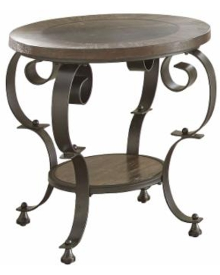 Steve Silver Mulberry Round End Table, Brown