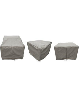 """Sol 72 Outdoor Waterbury 7 Piece Patio Furniture Cover Set W000669529 Size: 18"""" H x 16"""" W x 18"""" D Color: Gray"""