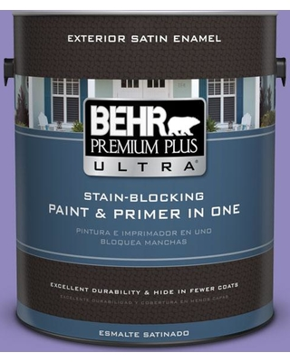 BEHR Premium Plus Ultra 1 gal. #630B-6 Butterfly Garden Satin Enamel Exterior Paint and Primer in One